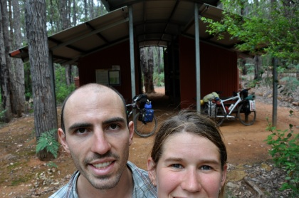 Happy to be at Bidgar Ngoulin hut where we had a cool swim in the stream nearby.